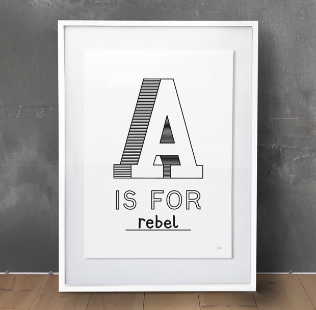 alexiae :     A is for rebel at  Editions of 100