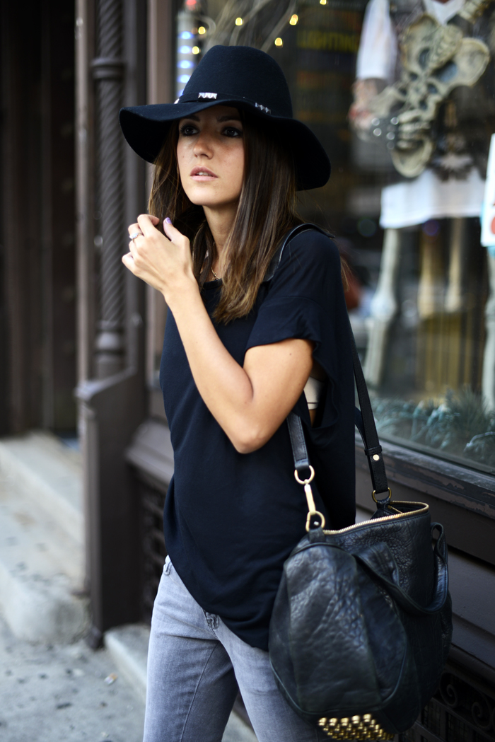 the-streetstyle :     black around NYC via  lovely-pepa