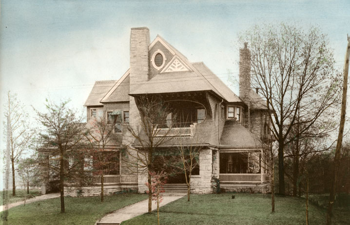 atlantahistorycenter: 1915 view of the Thomas Egleston house on Peacthree Street. View Larger Map