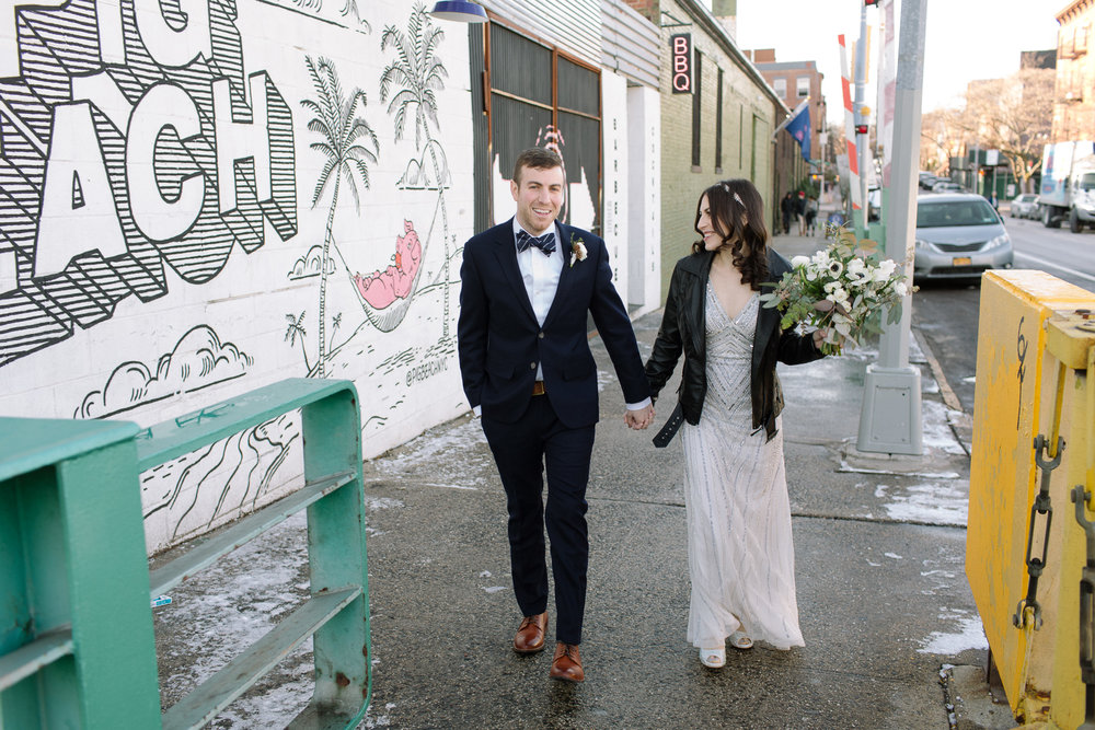 green building wedding photographer brooklyn mod cloth wedding dress feminist jewish wedding