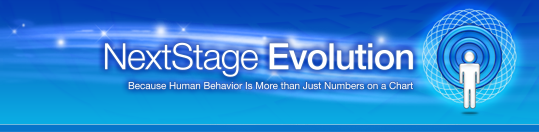 NextStage Analytics eventually combined with NextStage Evolution and thus the spiral symbol was incorporated.