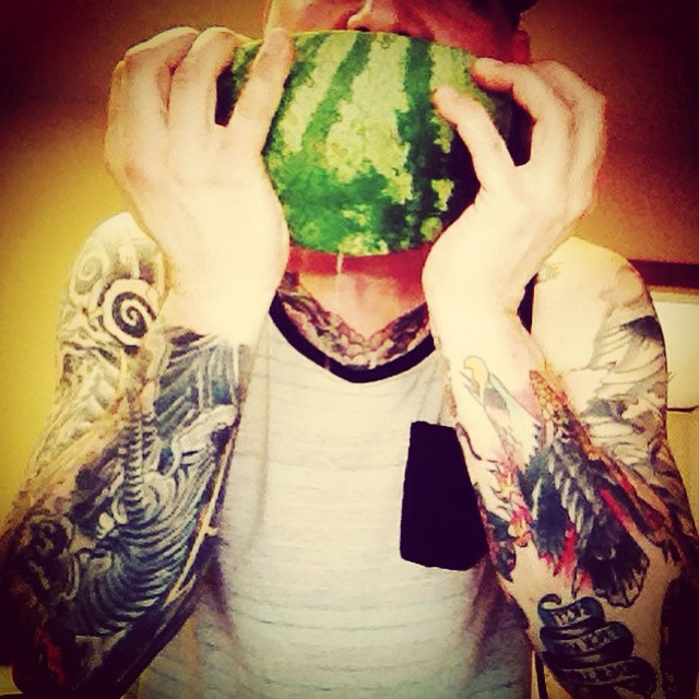 Stay hydrated eat watermelon. #watermelon #summer #newmusic #pittsburgh