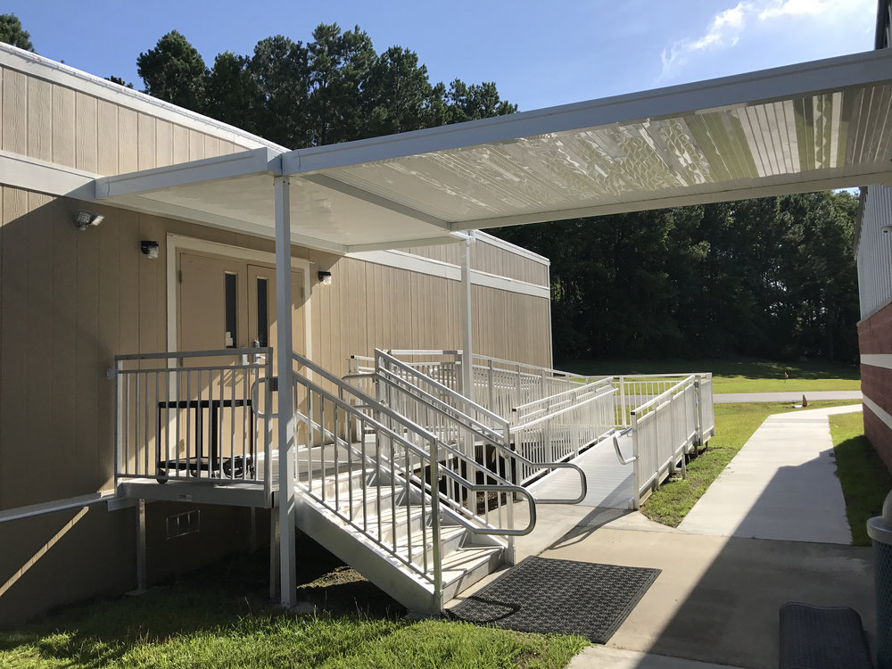 Modular Building Canopies - We work with modular building manufacturers across the country & make adding canopies to any projects an easy process