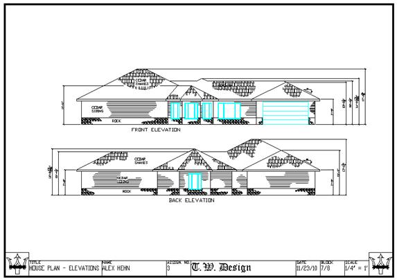 Elevation Plan Scale : Small house plan elevations — learn rich