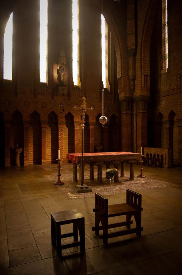Altar at Quarr Abbey Isle of Wight.jpg