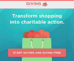 Giving Assistant shoppers earn cash back, and donate a percentage of that cash back to organizations like us! Just sign up for free to start earning and giving. You'll also enjoy huge savings at 3,000+ popular retailers like Kohl's and Staples, as well as limited-time offers including exclusive Papa John's coupons! It's never been easier to change the world.