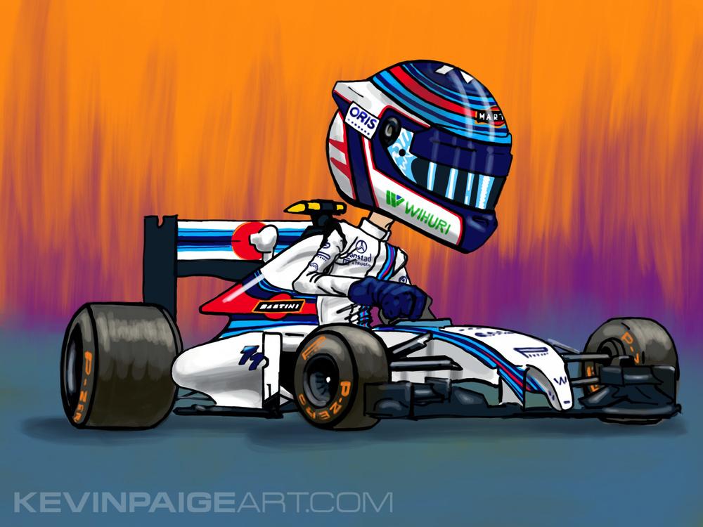 Valtteri Bottas Williams F1 Cartoon