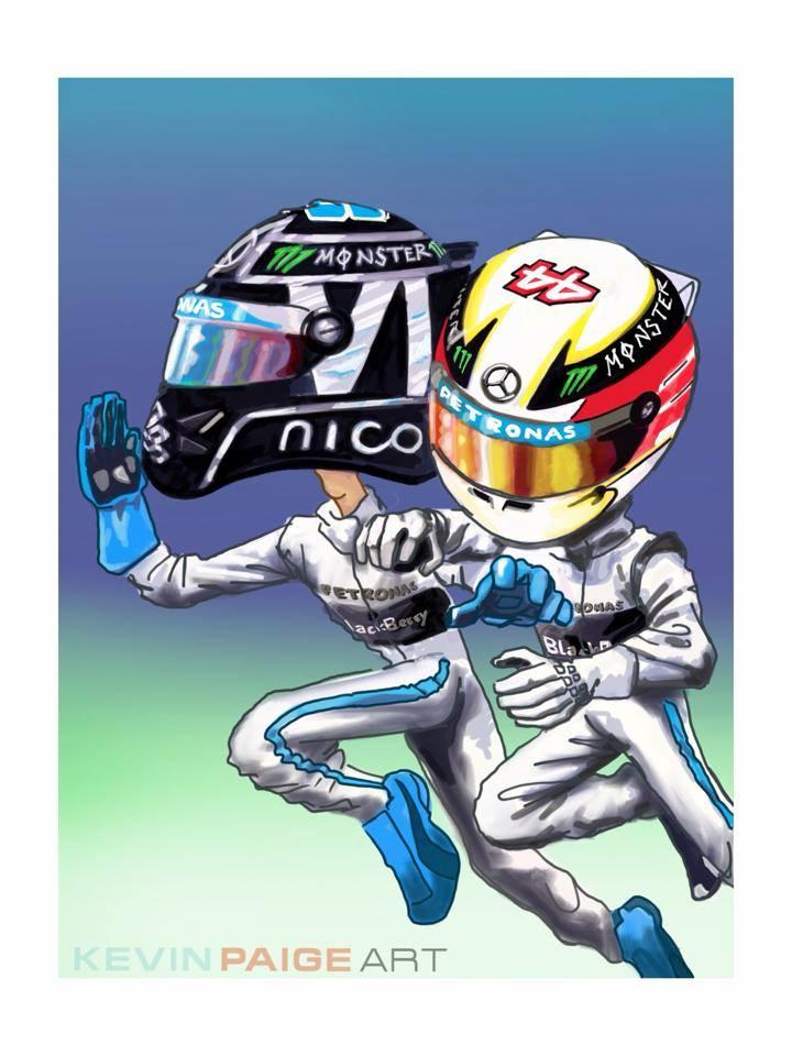 Nico vs. Lewis Cartoon