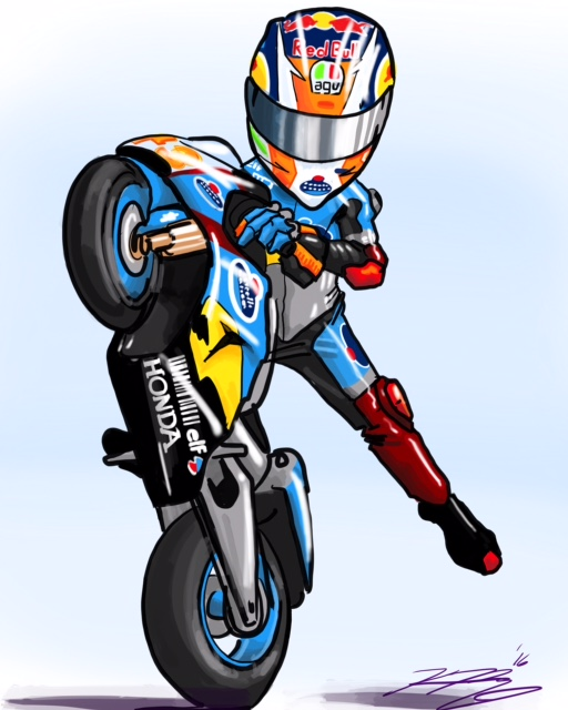 Jack Miller MotoGP Cartoon