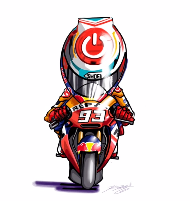 Marc Marquez Cartoon