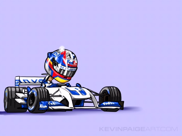 Juan Pablo Montoya Cartoon