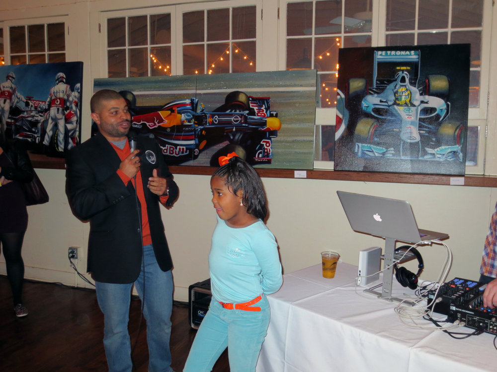 Kevin and his niece, London, at the Pole Position show in Austin, TX during the USGP.