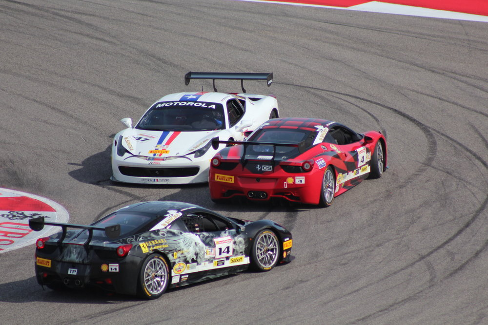 Ferrari Challenge chaos at Turn 1.