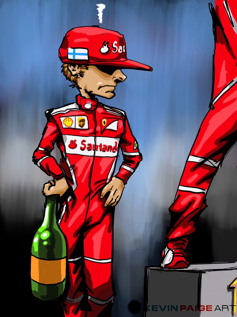 Kimi Monaco 2017 Cartoon