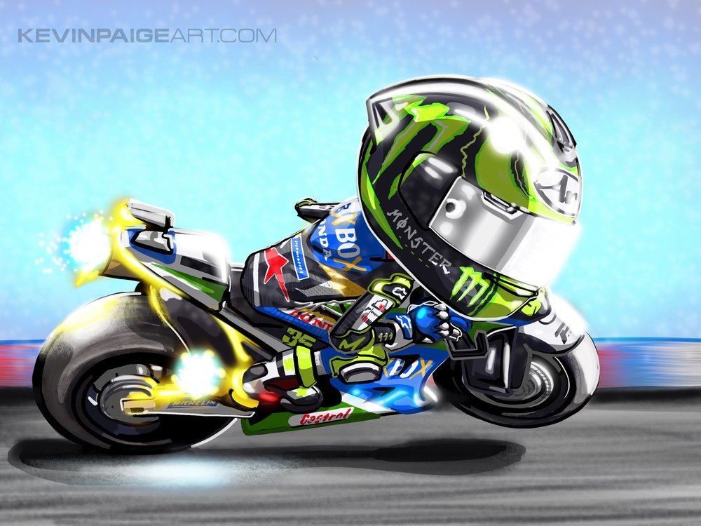 Cal Crutchlow Cartoon