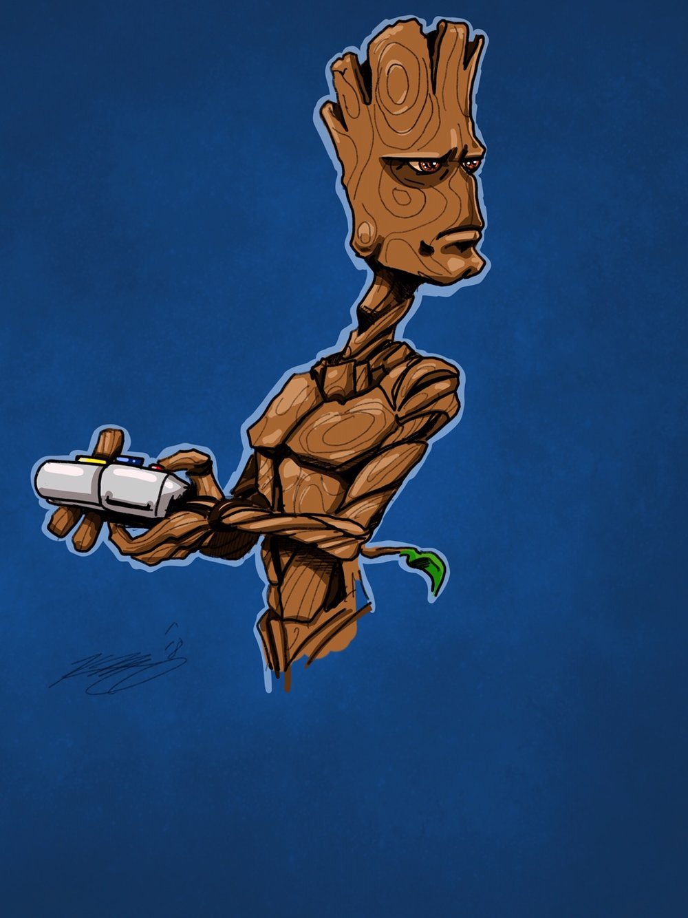 Teenage Groot Digital Sketch