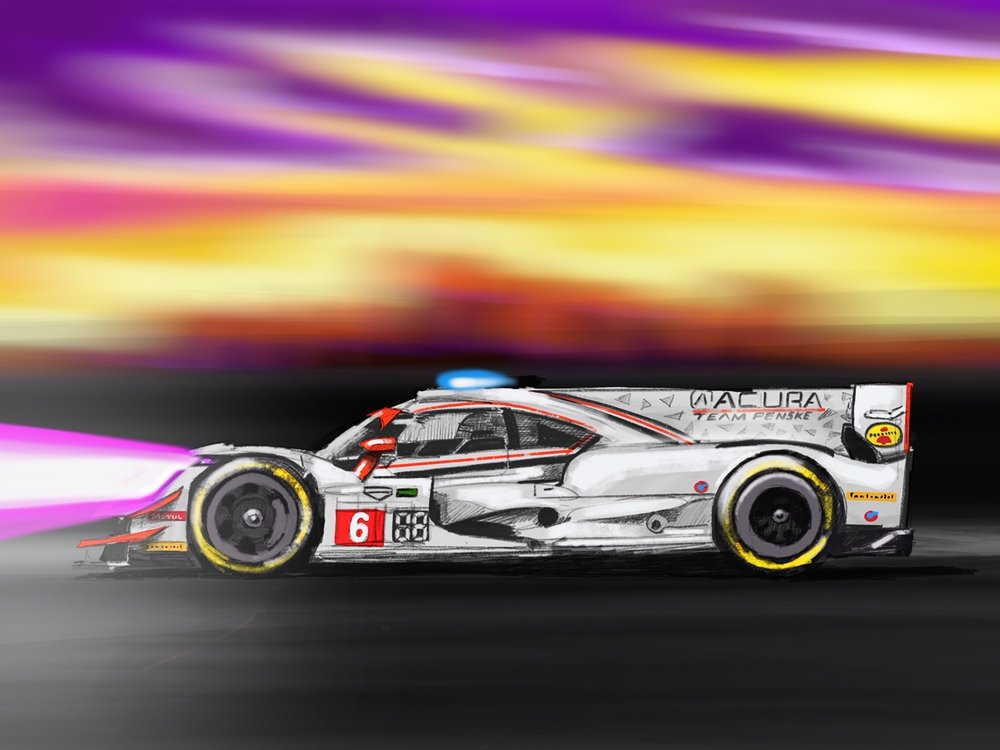 Penske IMSA Digital Sketch