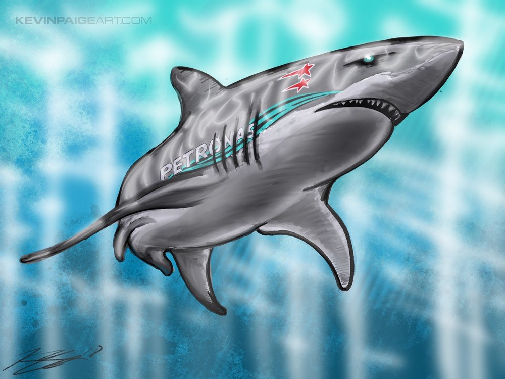 Hamilton Shark Digital Sketch