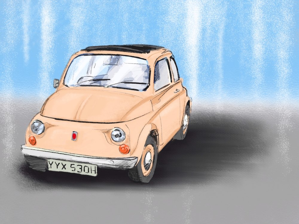 Fiat 500 Digital Sketch