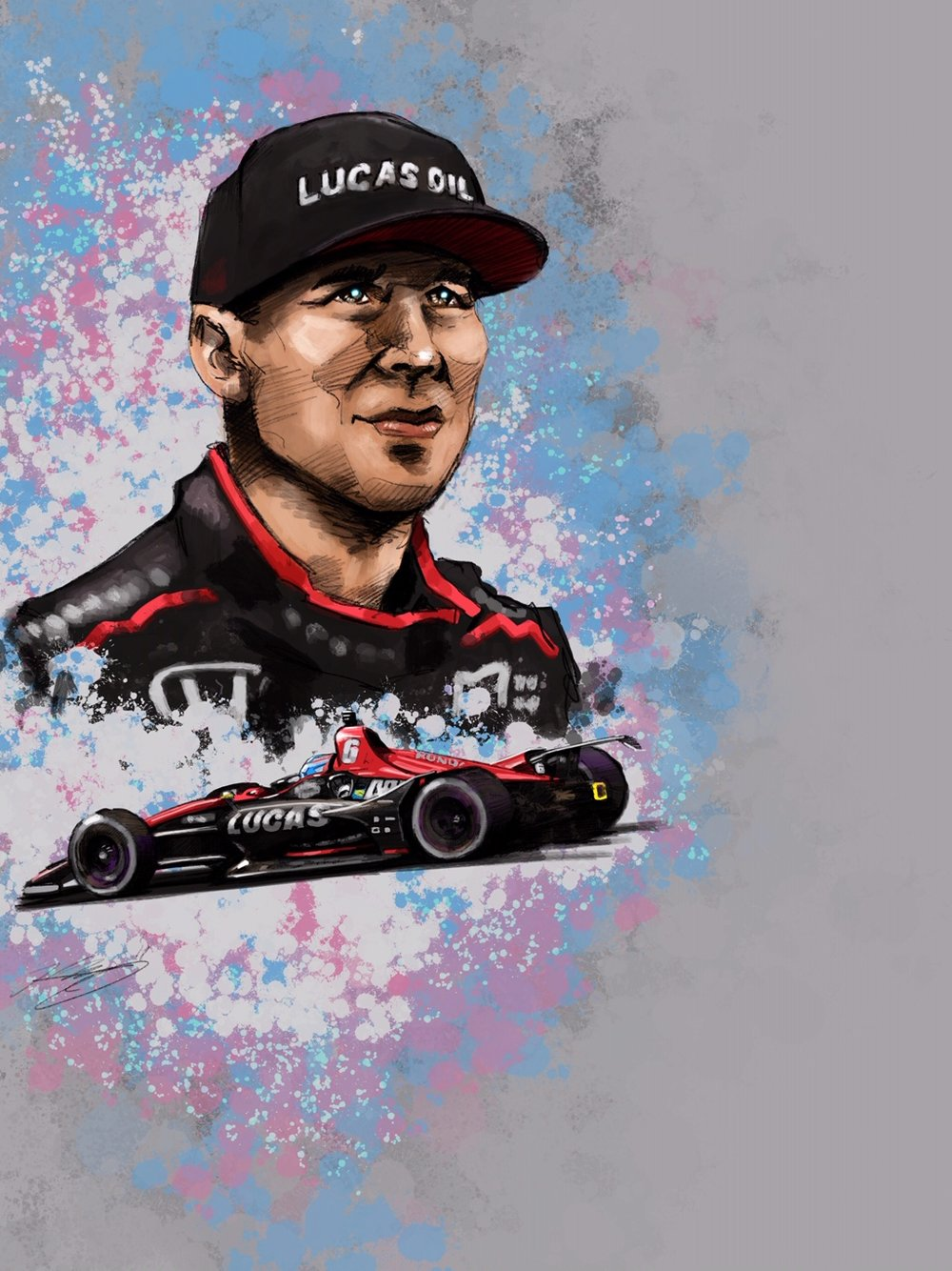 Robert Wickens Digital Sketch