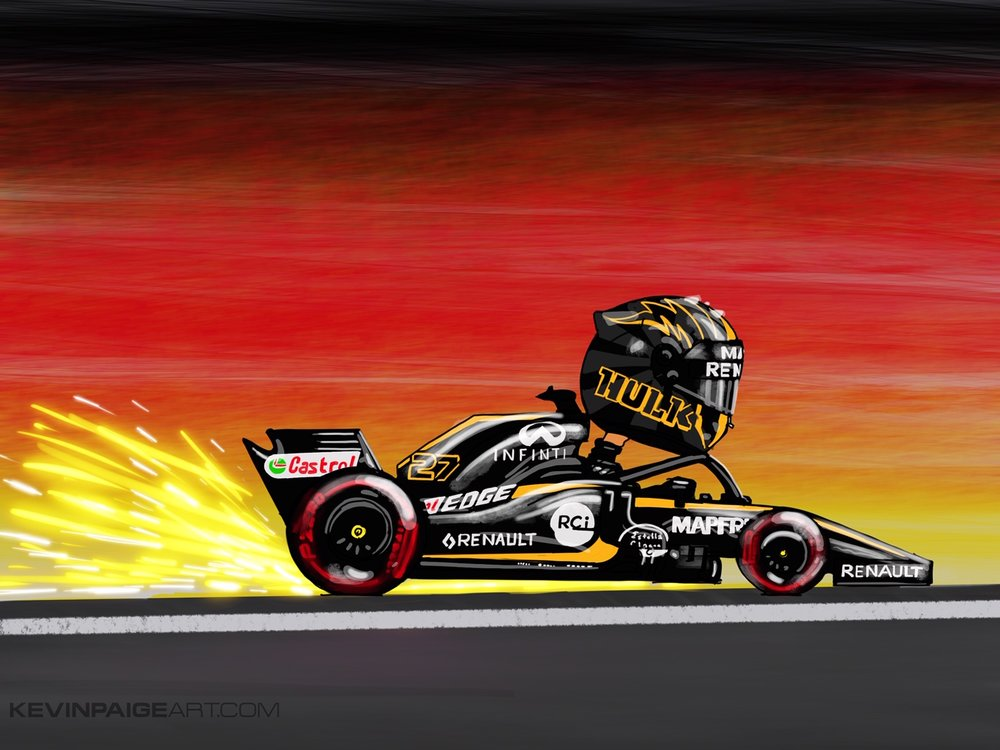 Nico Hulkenberg Digital Cartoon