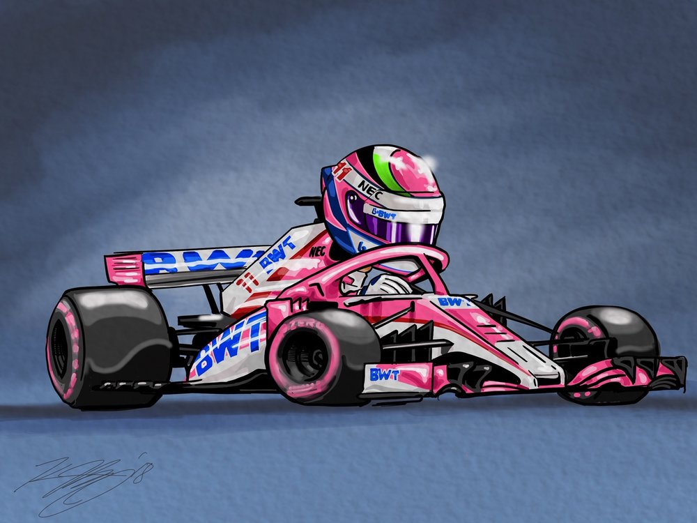 Perez Force India Digital Cartoon