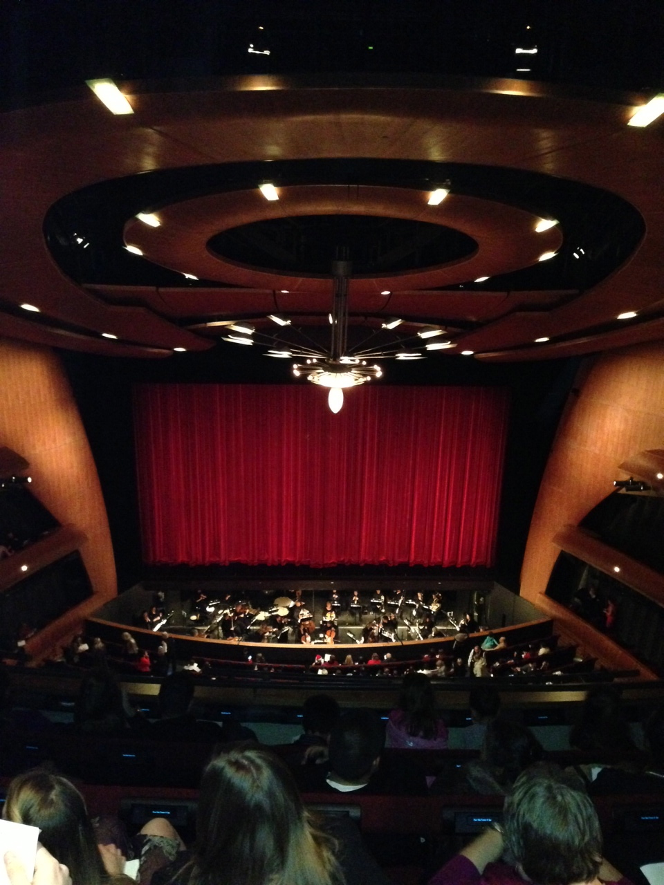 Kate took this photo illegally. We're hoping one day we will graduate out of the upper balcony.