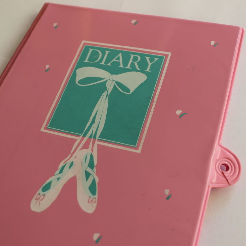 My very first diary, which was so secure it took snipping through the plastic with a pair of scissors to remove the lock and read all of my secrets.