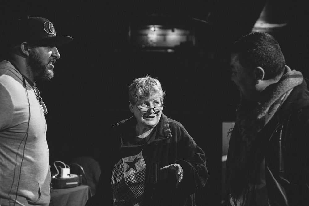 Left to right: Lateef The Truthspeaker, Shep, Lyrics Born. Photo courtesy of  Adam Bove .
