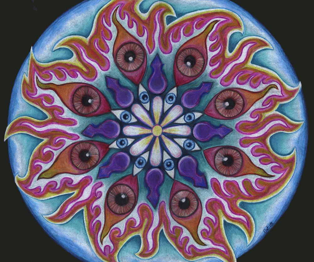 Dark Eyes Mandala by Cat Hawkins