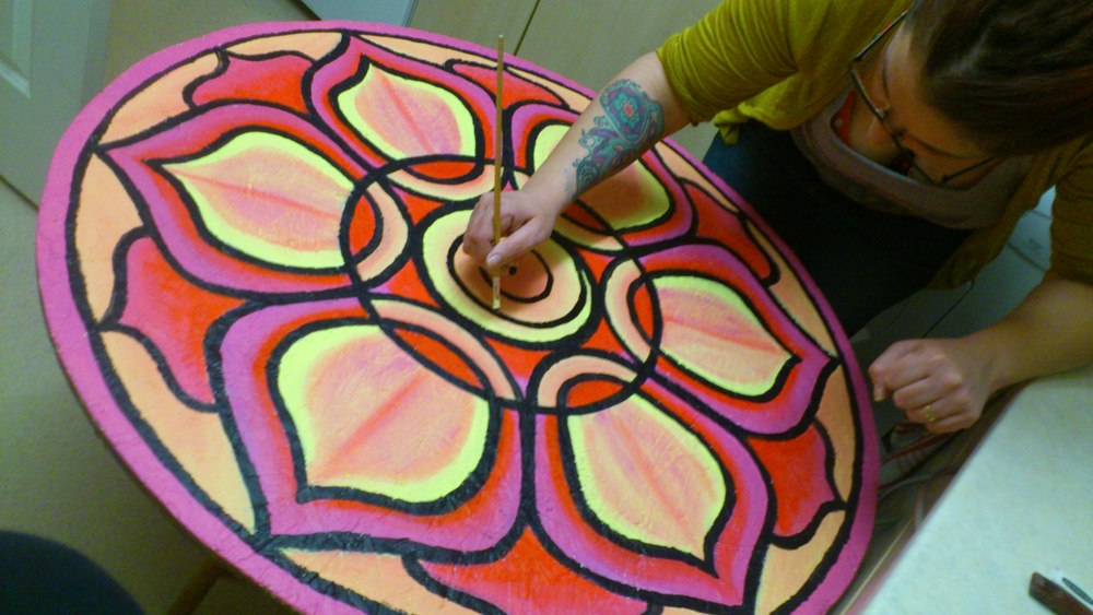 Our mandalas will be much smaller than this!