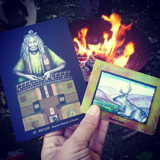 Powerful #cards. #aries #fullmoon #fireceremony #fire #weaversoracle #oracleoftheantleredroad #divination