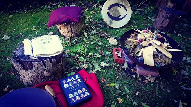 One week ago the #Aries #fullmoon was a game changer. #redtent meeting with my #bestie @veganhippymama #fire #bff #weaversoracle #drums #fireceremony #song #sacredspace