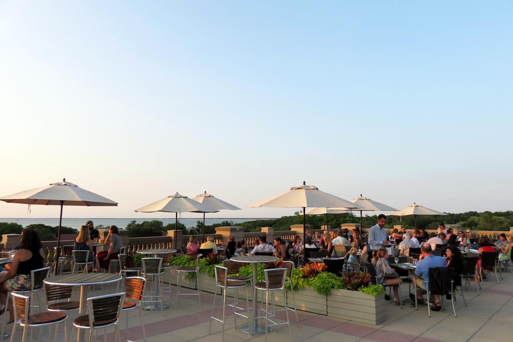 The ocean terrace bar at the ocean edge resort
