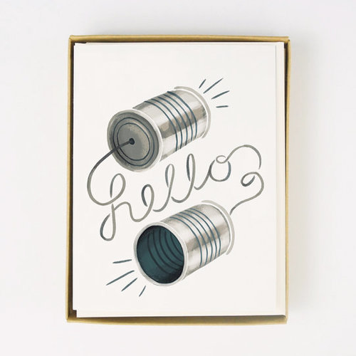 Hello Greeting Card Set Deluxe Home Furnishings Interior Design