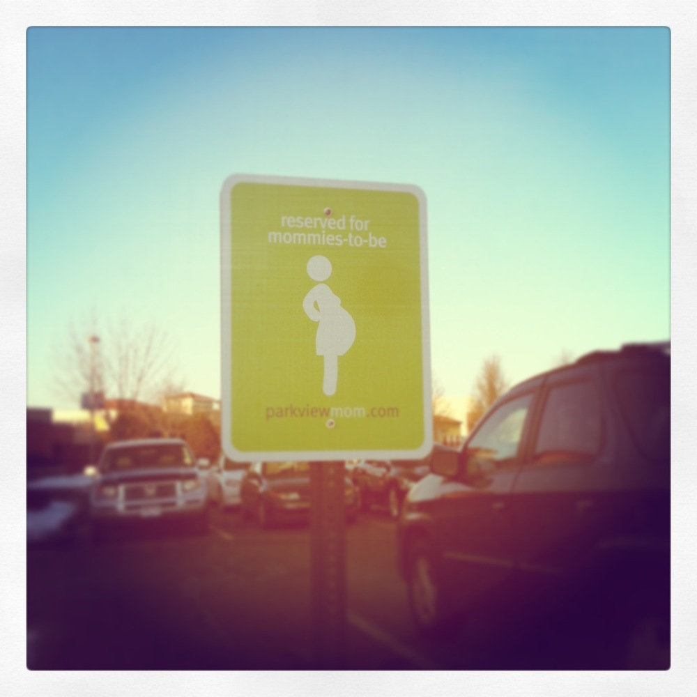priority parking for the expecting...so helpful!