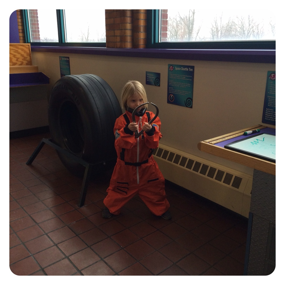Serious astronaut time at Science Central.