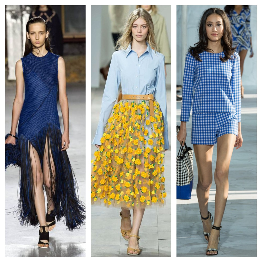 Fringe, flowers and gingham at NYFW Spring/Summer 2015. Photo credit: Getty Images