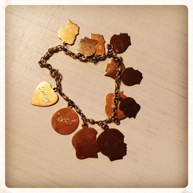 Nan Nan's delicate charm bracelet.