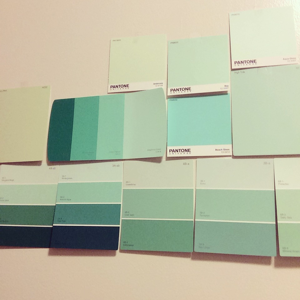 Narrowing down color choices for the kitchen.