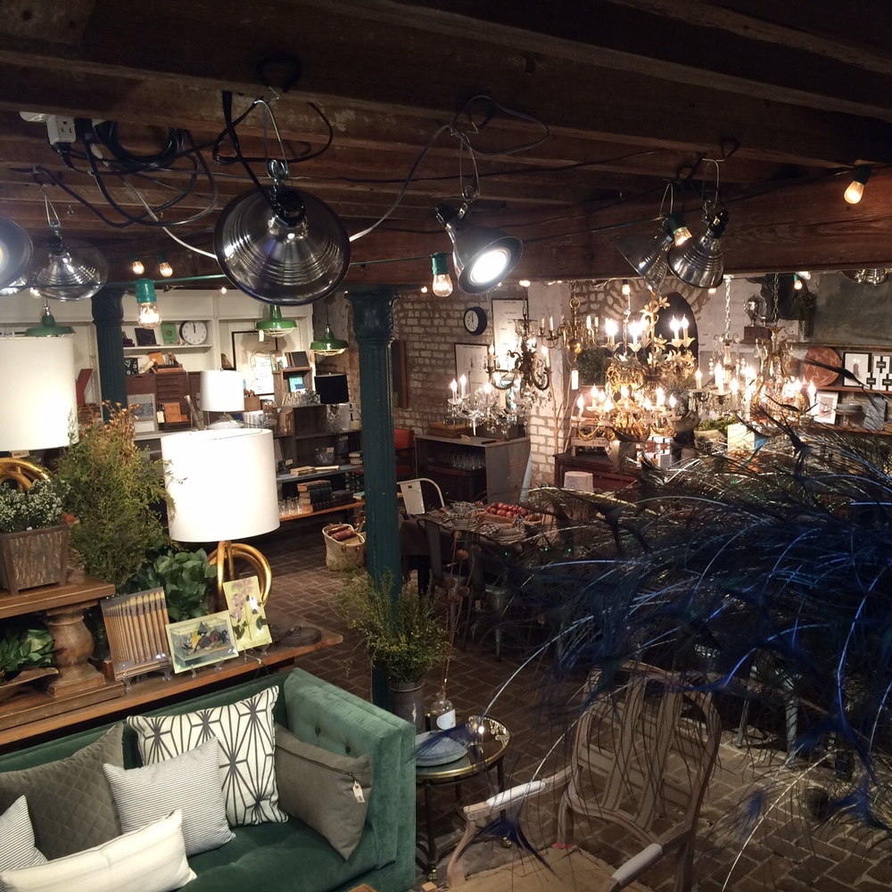 A bird's eye view of the basement at The Paris Market. This was my favorite store when I visited 7 years ago and it's still my favorite today. Lovely!