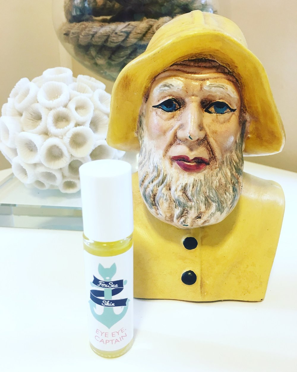 New FoxSea Launch - I'm so excited about Eye Eye, Captain, an under eye oil serum that helps keep fine lines and wrinkles at bay! I hope everyone loves it as much as EYE do. #badumching