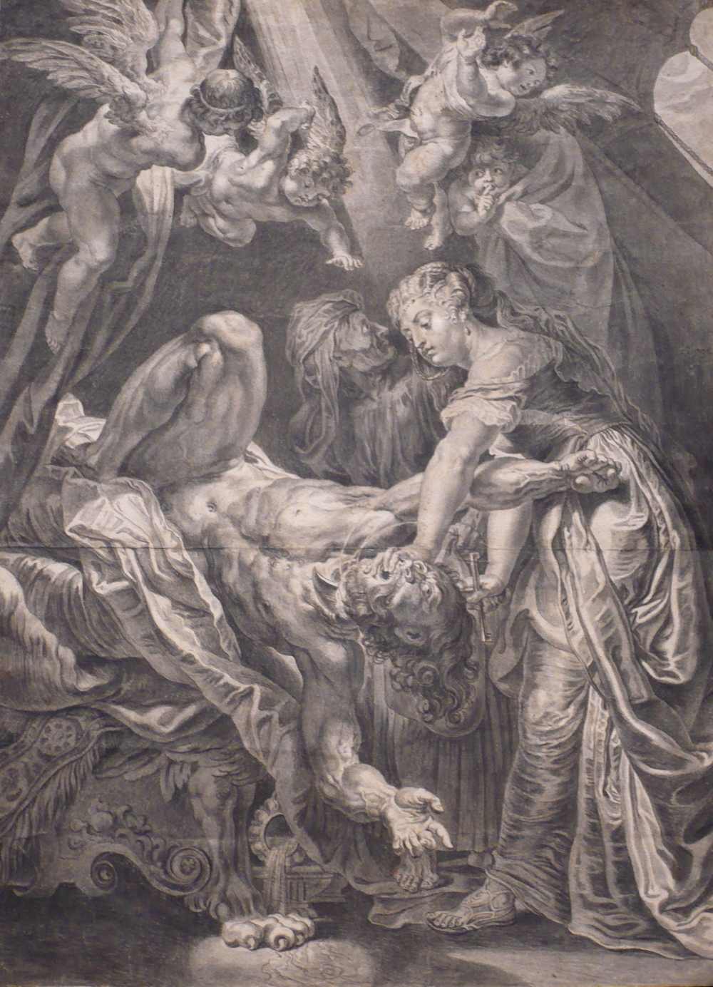 """""""Judith Beheading Holofernes"""" This pen and ink wash with chalk is part of the current exhibit and one of the pieces Mark Klocko will discuss in his talk."""