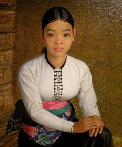Me-Hin, White Tai of Chin-Neua (Northeast) Vietnam - 1936-38 - Oil on canvas - by Jean Despujols - Friends of the Algur Meadows Museum of Art at Centenary College in Shreveport, LA