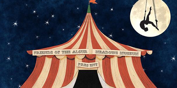 Cirque de Shreve Benefit Friends of the Algur Meadows Museum Official Invitation Front