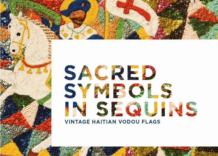 Ogou Sen Jak Maje (St. Jacques Majeur), late 20th century, plastic, felt, beads, sequins, burlap, cotton, & fringe, private collection.