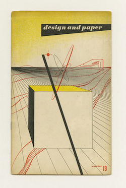 Ladislav Sutnar: Design and Paper No. 19 (Shape, Line and Color). New York: Marquardt & Company Fine Papers, 1945.