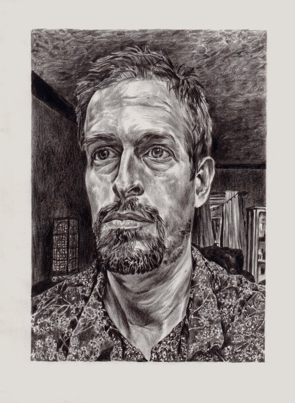 """Self-Portrait."" Graphite on Terraskin"
