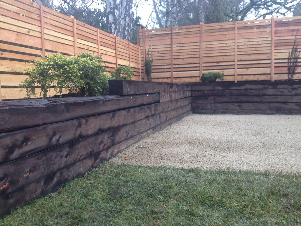 Landscape Timbers Portland Or : The decomposed granite and juniper is key to this landscape