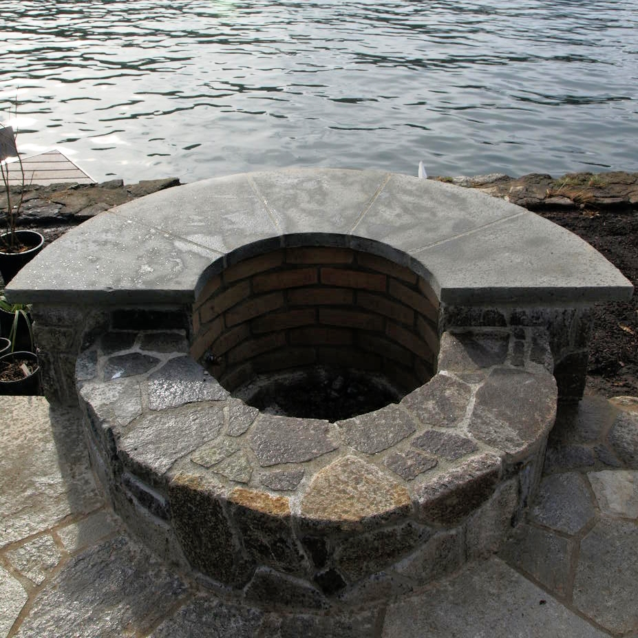 Stone Fire Pit in Lake Oswego, OR